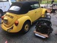 Super Beetle Engine Removed