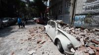 Smashed VW from Mexico's earthquake 2017