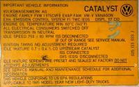Vehicle Information Label