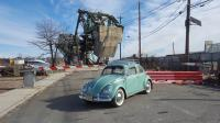 VW at the bascule bridge on South Front Street, Elizabeth, NJ
