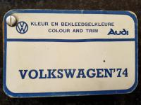 1974 VWSA paint & upholstery lists