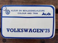 1975 VWSA paint & upholstery lists