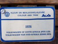1976 VWSA paint & upholstery lists