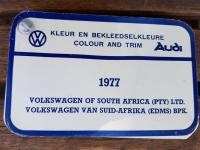 1977 VWSA paint & upholstery lists