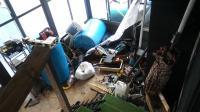 porch damage engine building area