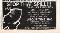 About time, oil filler extension