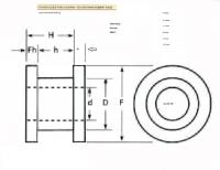 141-871-829 Lower Guide Bar Bushing ... Dimensions
