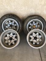 Rare aluminum GT 15x8 dan gurney rims