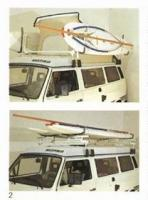 Vw vanagon roof rack for surfboards, windsurf and stand-up paddle boards (SUP)
