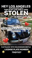 Stolen Satin Black 1970 VW Beetle