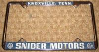 Snider plate frame (borrowed from the gallery)