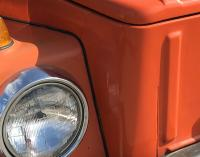 Cracked Filler on front of VW Thing