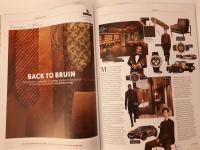Brown Porsche in magazine
