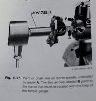 Homemade VW 758/1 tool.