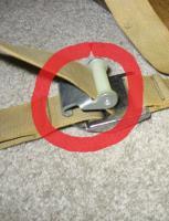 rear seat strap clip