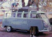 Late 1963 23-Window with roof rack - vintage photo
