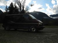 eurovan and drone