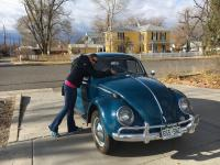 "Our shiny ""new to us"" '64 beetle!"