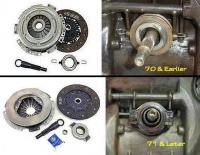 VW pressure plate and throwout bearing