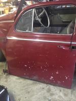Bottom door rust repair from donor door