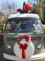 Christmas card bus