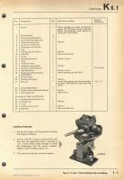 VW Workshop Manual K-series, page about fuel pump