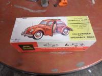 Very Rare NOS Tin Rag Top Sunroof Beetle Toy Car