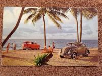 1960's VW Dealer Postcard From European Automotive