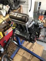 Engine on stand
