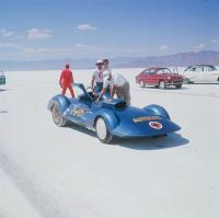 Granada Red Type Typ 3 Fastback Fasty 1600 Bonneville Salt Flats Speedweek 1966 Vintage Photo
