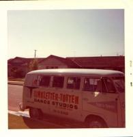 L87 Pearl White Logo Kombi November 1963 Linkletter Totten Dance Studios Canoga Park California Truck Mirrors 6 Popouts Vintage Photo