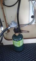Add 1lb propane connection