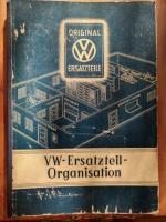 Original VW Dealership Organization Book 1950, in German