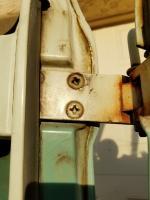 Bus front door jam paint line photos