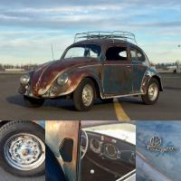 My first split Beetle, Old Man Maynard. 1952 Azure blue
