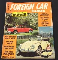 Foreign Car Guide cover with pedal car, Oct. 1966