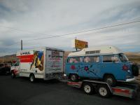 Skybus on uhaul trailer
