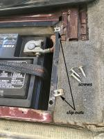 Battery box rivnuts