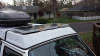 Solar added to luggage rack