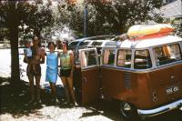 23 Window Deluxe Microbus RHD BG SWR Trailer Hitch Great Ocean Road Victoria Australia Vintage Photo