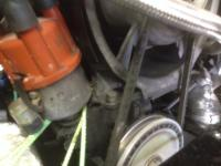Bus engine with oil leak and Scat Porsche Style Fan Shroud