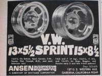 ANSEN VW Sprint Wheels Ad