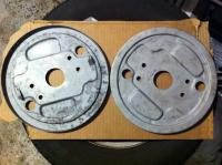 Sand blasted and painted brake backing plates