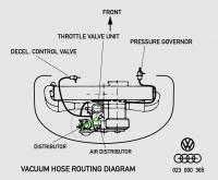 Vacuum hose route diagram