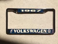 1967 License Plate frame
