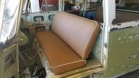 "Rob Gibson caramel brown seat covers ""Mango bus"""
