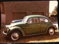 Vintage photo of Mom's old Beetle
