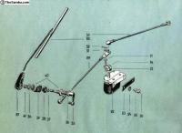 Barndoor wiper mechanism