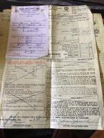 Sales receipt for my 1955 oval