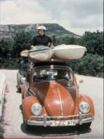 VW Bug and Kayaks